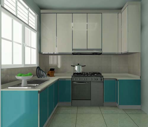 U-Shaped Kitchen Cabinet