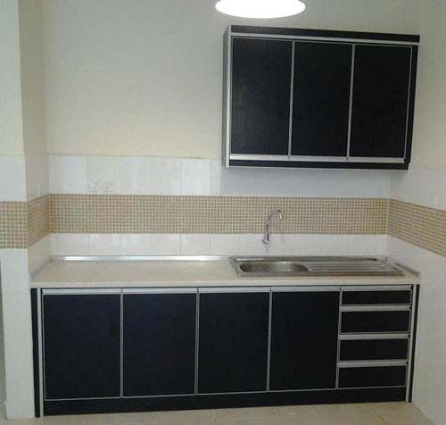 Simple one wall kitchen cabinet for Kitchen design one wall