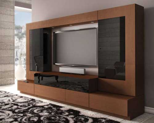 Black & Brown TV Cabinet Design